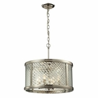 ELK Chandler Collection 4 Light Pendant in Polished Nickel EK-31462-4