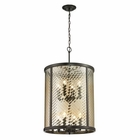ELK Chandler Collection 8 Light Pendant in Oil Rubbed Bronze EK-31453-8