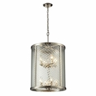 ELK Chandler Collection 8 Light Pendant in Polished Nickel EK-31463-8