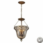 ELK Cheltham 3 Light Pendant in Mocha With Adapter Kit EK-46021-3-LA