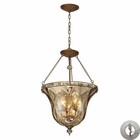 ELK Cheltham 4 Light Pendant in Mocha With Adapter Kit EK-46022-4-LA