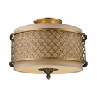 ELK Chester 3-Light Semi-Flush in Brushed Antique Brass EK-31031-3