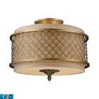 ELK Chester 3-Light Semi-Flush in Brushed Antique Brass - Led EK-31031-3-LED
