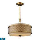 ELK Chester 4-Light Pendant in Brushed Antique Brass - Led EK-31033-4-LED