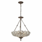 ELK Christina 5 Light Pendant in Mocha EK-12024-5