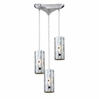 ELK Chromia 3-Light Pendant in Polished Chrome EK-31077-3