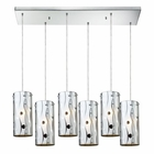 ELK Chromia 6 Light Pendant in Polished Chrome EK-31077-6RC