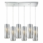 ELK Chromia 6 Light Pendant in Polished Chrome EK-31078-6RC