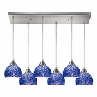 ELK Cira 6 Light Pendant in Satin Nickel EK-10143-6RC-PB