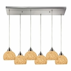 ELK Cira 6 Light Pendant in Satin Nickel EK-10143-6RC-PW