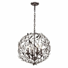 ELK Circeo Collection 4 Light Pendant in Deep Rust EK-18134-4
