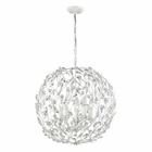 ELK Circeo Collection 5 Light Pendant in Antique White EK-18125-5