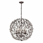 ELK Circeo Collection 5 Light Pendant in Deep Rust EK-18135-5
