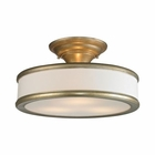 ELK Clarkton 3 Light Semi Flush in Aged Silver EK-31519-3