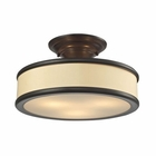 ELK Clarkton 3 Light Semi Flush in Oil Rubbed Bronze EK-31529-3