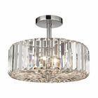 ELK Clearview 3 Light Semi Flush in Polished Chrome EK-46185-3