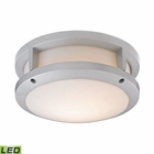 ELK Colby 1 Light Outdoor Flushmount in Matte Silver EK-45132-LED