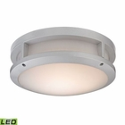 ELK Colby 1 Light Outdoor Flushmount in Matte Silver EK-45133-LED