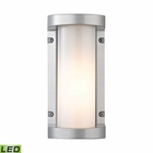 ELK Colby 1 Light Outdoor Sconce in Matte Silver EK-45130-LED