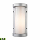 ELK Colby 1 Light Outdoor Sconce in Matte Silver EK-45131-LED