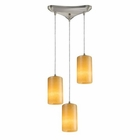 ELK Coletta 3-Light Genuine Stone Pendant in Satin Nickel EK-10169-3