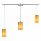 ELK Coletta 3-Light Linear Genuine Stone Pendant in Satin Nickel EK-10169-3L