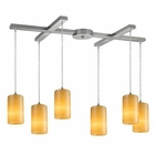 ELK Coletta 6-Light Genuine Stone Pendant in Satin Nickel EK-10169-6