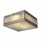 ELK Conley 2 Light Flushmount in Brushed Brass EK-22040-2