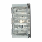 ELK Corrugated Glass 1 Light Vanity in Polished Chrome EK-11515-1