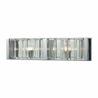ELK Corrugated Glass 2 Light Vanity in Polished Chrome EK-11516-2