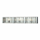 ELK Corrugated Glass 3 Light Vanity in Polished Chrome EK-11517-3