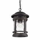 ELK Costa Mesa 1 Light Outdoor Pendant in Weathered Charcoal EK-45113-1