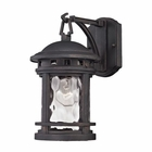 ELK Costa Mesa 1 Light Outdoor Wall Lantern in Weathered Charcoal EK-45110-1
