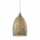 ELK Crackle 1 Light Pendant in Satin Nickel EK-31376-1