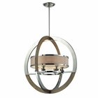 ELK Crestwood 6 Light Pendant in Polished Nickel EK-31018-6