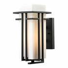 ELK Croftwell Collection 1 Light Outdoor Sconce in Textured Matte Black EK-45085-1