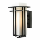 ELK Croftwell Collection 1 Light Outdoor Sconce in Textured Matte Black EK-45086-1