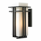 ELK Croftwell Collection 1 Light Outdoor Sconce in Textured Matte Black EK-45087-1
