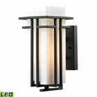 ELK Croftwell Collection 1 Light Outdoor Sconce in Textured Matte Black - Led EK-45085-1-LED