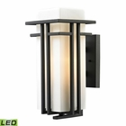 ELK Croftwell Collection 1 Light Outdoor Sconce in Textured Matte Black - Led EK-45086-1-LED