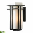 ELK Croftwell Collection 1 Light Outdoor Sconce in Textured Matte Black - Led EK-45087-1-LED