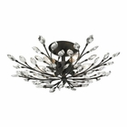 ELK Crystal Branches 6 Light Semi Flush in Burnt Bronze EK-11772-6