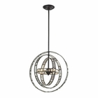 ELK Crystal Orbs 3 Light Pendant in Oil Rubbed Bronze EK-31660-3