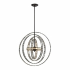 ELK Crystal Orbs 6 Light Pendant in Oil Rubbed Bronze EK-31661-6