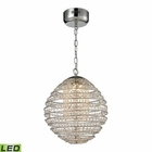 ELK Crystal Sphere  Light Pendant in Polished Chrome EK-11731-LED