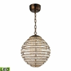 ELK Crystal Sphere  Light Pendant in Spanish Bronze EK-11730-LED