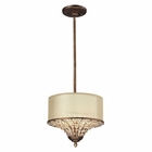 ELK Crystal Spring Collection 3 Light Pendant in Spanish Bronze EK-11700-3