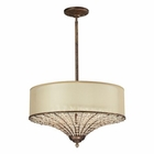 ELK Crystal Spring Collection 3 Light Pendant in Spanish Bronze EK-11701-4