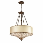 ELK Crystal Spring Collection 4 Light Pendant in Spanish Bronze EK-11702-4