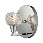 ELK Crystal Wave 1 Light Vanity in Polished Chrome EK-11800-1